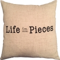 <h5>Life in Pieces pillow</h5>