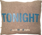 <h5>Friends with Benefits pillow (side A)</h5>