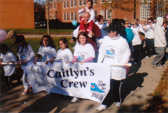 Caitlyn's Crew JDRF walk